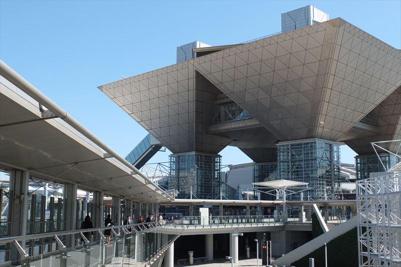 「国際展示場正門」駅すぐの「東京ビッグサイト」