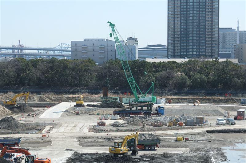 オープンが待たれる「豊洲市場」の工事現場