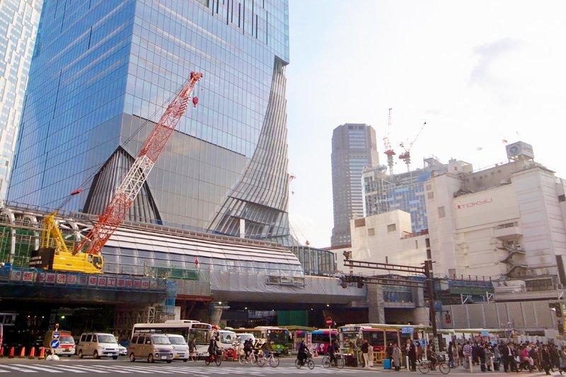 高層ビル「渋谷スクランブルスクエア」建設地