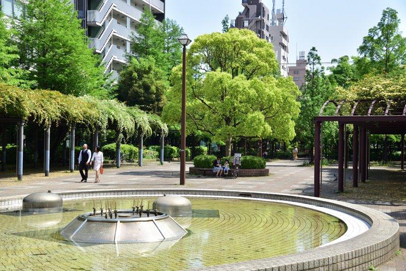 大横川親水公園(緑四丁目付近)