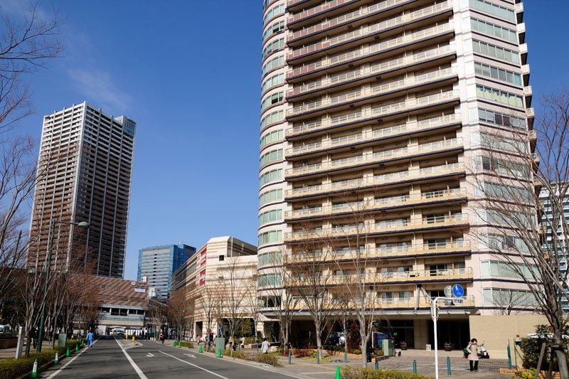 武蔵小杉駅周辺の街並み