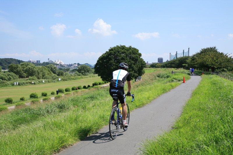 多摩川サイクリングロード(中原区等々力付近)