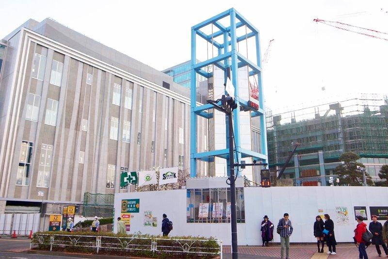 建て替え中の「渋谷公会堂」